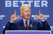 Democratic USpresidential nominee and former Vice President JoeBidenanswers questions from reporters after a speech about the effects on the economy of theTrumpadministration's response to thecoronavirus during an appearance in Wilmington, Del., Sep