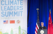 In this file photo, then-Vice President JoeBidenspeaks at the closing session of the US-ChinaClimateLeaders Summit in Los Angeles, California, Sept.16, 2015.