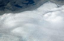 A vast, white sheet of ice