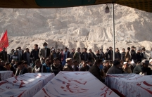 Mourners demanded that Pakistan's Prime Minister Imran Khan visit them in person in the aftermath of the brutal attack.