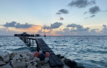 The sun sets on Kamoka Pearl Farm, located on the Ahe Atoll, about 300 miles away from French Polynesia's main island, Tahiti. OwnerJosh Humbert says that being environmentally has always been important at this small, family-run pearl production operatio