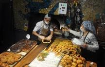 A bakery in the Çukurcuma neighborhood makes a fresh batch of sesame-encrusted rings of bread, called simit.