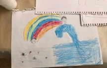 For one of their projects, children were asked to draw two worlds: the reality they live in today and an imaginary world they would like for themselves, and then connect the two with a bridge.