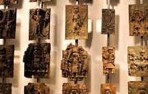 Benin Bronzes on exhibit at the British Museum.
