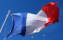 Blue, white and red French flag fleets in Nice, southeastern France, Tuesday, March 19, 2013.