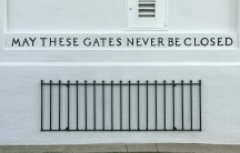 An engraving inside Peace Arch pays homage to the historically close relationship between the USand Canada