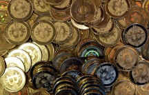 An array of bitcoins