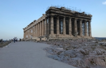 A concrete walkway has been paved on the Acropolis plateau in an effort to make the site more accessible. But critics say materials used would make it impossible to remove the pathway without damaging the ancient bedrock underneath.