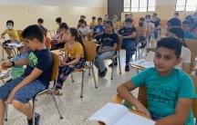 Iraqi Christian children prepare for their First Communion in Bartella.