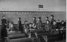 Native American students at the Carlisle Indian School, circa 1899.