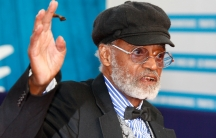 US director, actor, screenwriter Melvin Van Peebles is seen during a tribute for his career at the 38th American Film Festival in Deauville, Normandy, France