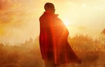 "A still from ""I Am Samuel"" scene at sunset on a farm in Kenya."