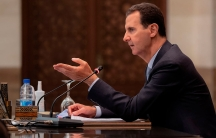 Syrian President Bashar al-Assad heads a cabinet meeting, in Damascus, Syria