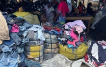Over 30,000 people trade in used clothing at Kantamanto market, Accra, Ghana.