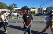 Levele Pointer attends the #CLOSERikers rally on September 24.