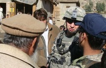 US army Captain Blake Hall in Iraq.
