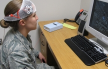 Air Force study subject receives tDCS
