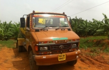 One of a fleet of trucks in the Bangalore area that brings untreated sewage from homes to farms, to be used as fertilizer.