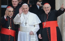 Pope Francis after his selection in March.