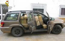 Hash packages in car in Spain