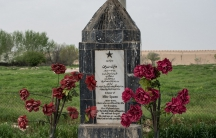 Memorial to Mike Spann at the Qala-i-Jangi Fortress