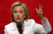 Hillary Clinton at technical school in South Carolina