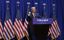 Donald Trump announcing his candidacy for president