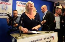 Marine Le Pen laughs
