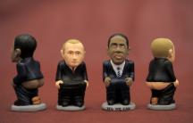 Obama and Putin Catalan caganer figurines