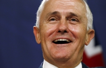 Australian Prime Minister Malcolm Turnbull speaks during a news conference in Sydney on Feb. 19, 2016.