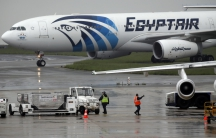 The EgyptAir plane scheduled to make the following flight from Paris to Cairo, after flight MS804 disappeared from radar, taxies on the tarmac at Charles de Gaulle airport in Paris, France, on May 19, 2016.