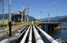 Oil flows through pipes to the Westridge Marine near Vancouver, BC. A second, much larger pipeline here is part of Canadian prime minister Justin Trudeau's plan to increase exports of oil from Alberta's tar sands region. Opponents say that would increase