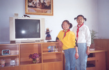 Abigail Anderson (L)  and Bingjie Turner (R) lived at the Xining Children's Home before being adopted.  Anderson went to live with a family in Virgina and Turner with a family in Washington state.