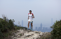 World-renowned mountain trail runner Mira Rai on a training run outside Hong Kong.