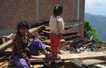 Two girls in the Nepali village of Melchour.