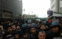 Protest in Guba, Azerbaijan.