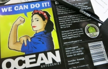 """The beer label for the first ever beer brewed by the social beer drinking group for Swedish women, Fem Ale. It's a hopped pale ale with the name, """"We Can Do It."""""""