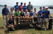Conservation volunteers at the Boston Harbor Islands National Park.
