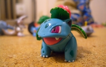 toy Pokemon on carpet, close-up shot