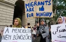MigSzol demonstration in Budapest.