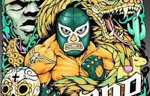 A poster for Chicano-Con