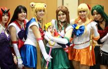 Sailor Moon cosplayers at the 2014 Amazing Arizona Comic Con.