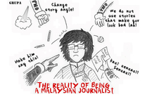 GRUPA makes comics about the state of press freedom in Malaysia.