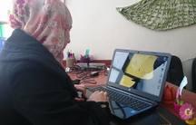 Leila Al Bakhry at a Women's Center in Eastern Ghouta.
