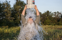 Anthony Quintano complete the ALS Ice Bucket Challenge, a fundraising campaign that's gone viral around the world and prompted supporters of other causes to create their own versions of the challenge.