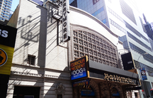 """The marquee at the Ethel Barrymore Theater in New York, where """"The Curious Incident of the Dog in the Night-Time"""" is playing."""