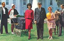 """A detail from the cover of the 1962 comedy album """"The First Family"""""""