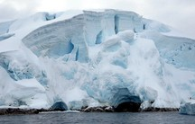 Glaciers on the Melchior Islands off Antarctica.