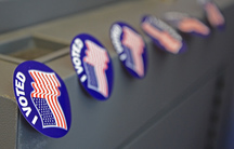 Voting stickers