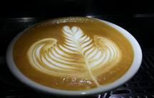 cappuccino at Curto Café in Rio de Janeiro, Brazil.